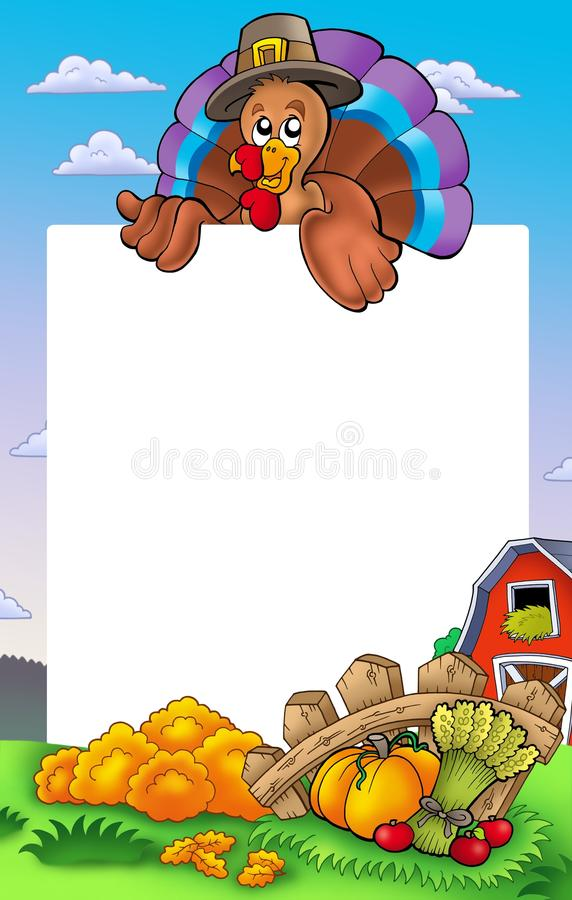 Download Thanksgiving Frame With Turkey 2 Stock Illustration - Image: 15884131