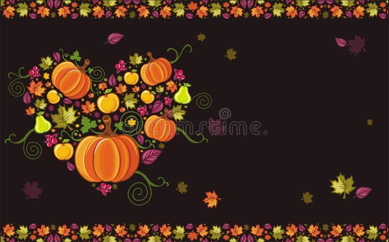 Thanksgiving greeting card 3 vector illustration