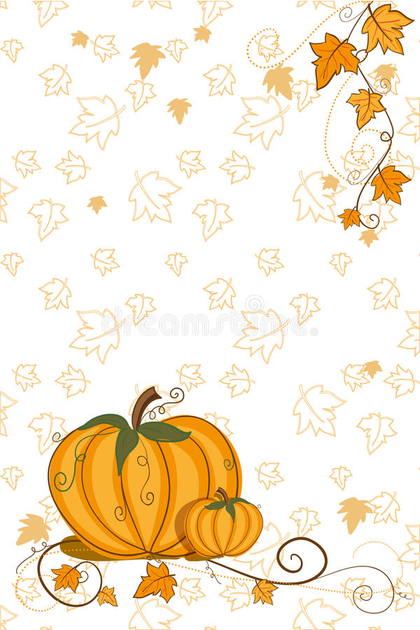Download Thanksgiving Greeting Card - Pumpkin Stock Vector - Image: 15554166