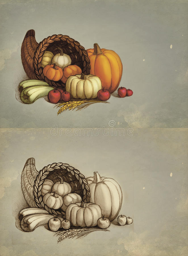 Thanksgiving greeting cards royalty free illustration