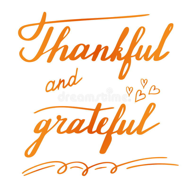 Thanksgiving Hand Lettering And Calligraphy Design Stock