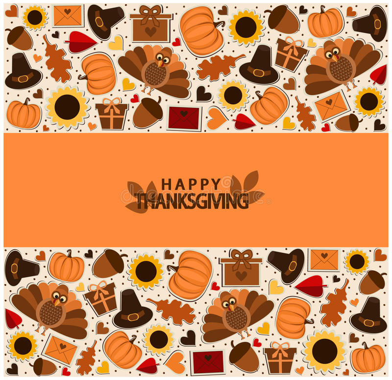 Thanksgiving. Happy Thanksgiving card or background royalty free illustration
