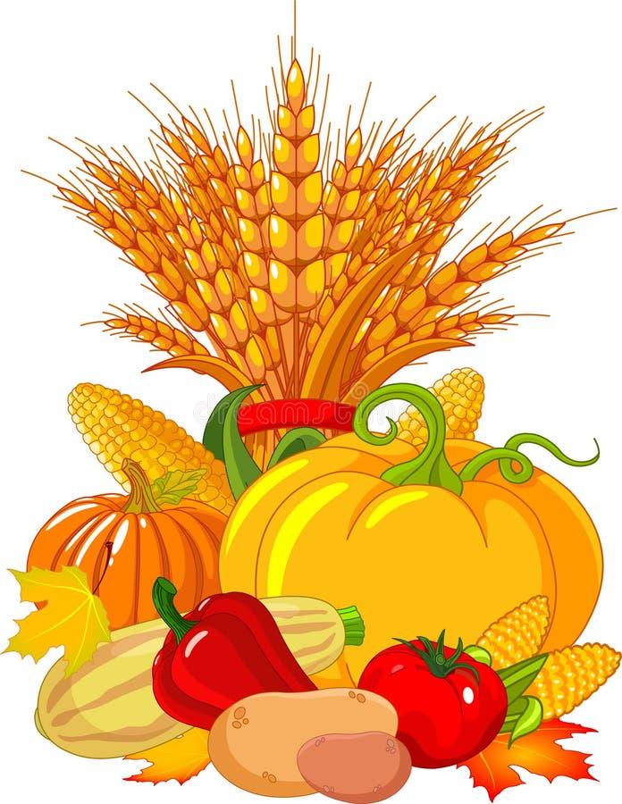 Thanksgiving / harvest design stock illustration