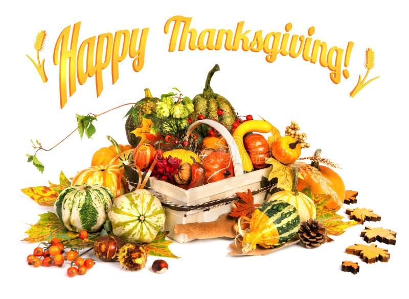 Thanksgiving heureux ! Carte de voeux images stock