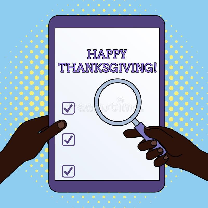 Thanksgiving heureux des textes d'?criture de Word Concept d'affaires pour des vacances nationales de festival de r?colte c?l?br? illustration stock