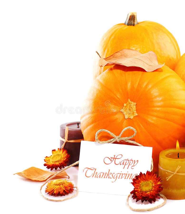 Thanksgiving holiday decoration border stock photography