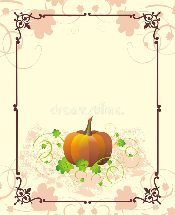 Thanksgiving holiday frame royalty free stock photos