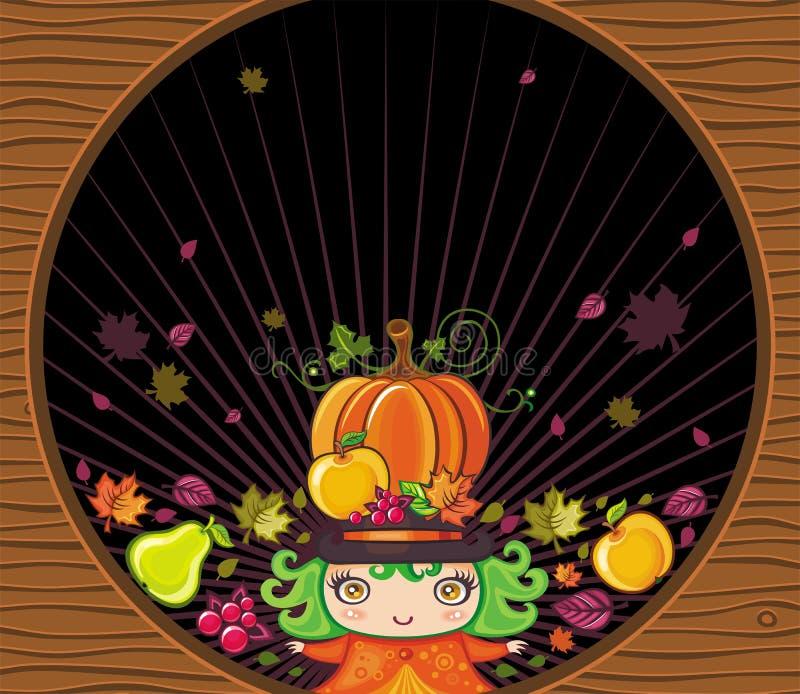 Thanksgiving holiday frame 2 stock illustration