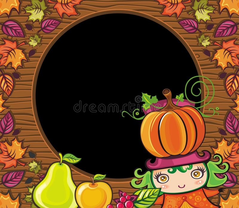 Thanksgiving holiday frame 6 stock illustration