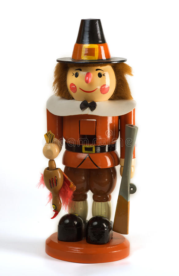 Thanksgiving Holiday Pilgrim Nutcracker stock photo
