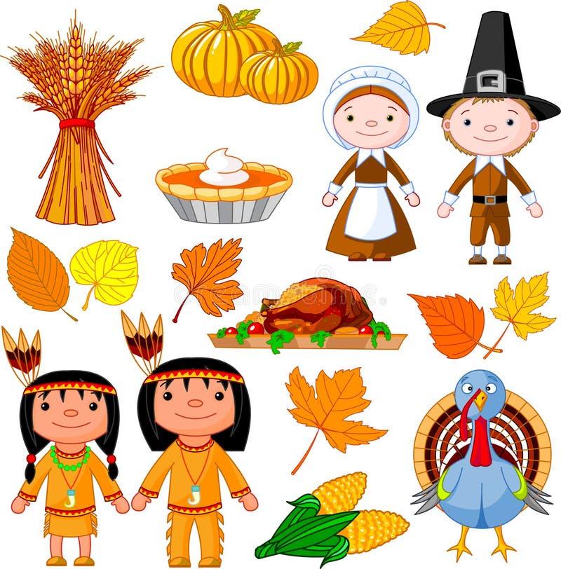 Thanksgiving icon set royalty free illustration