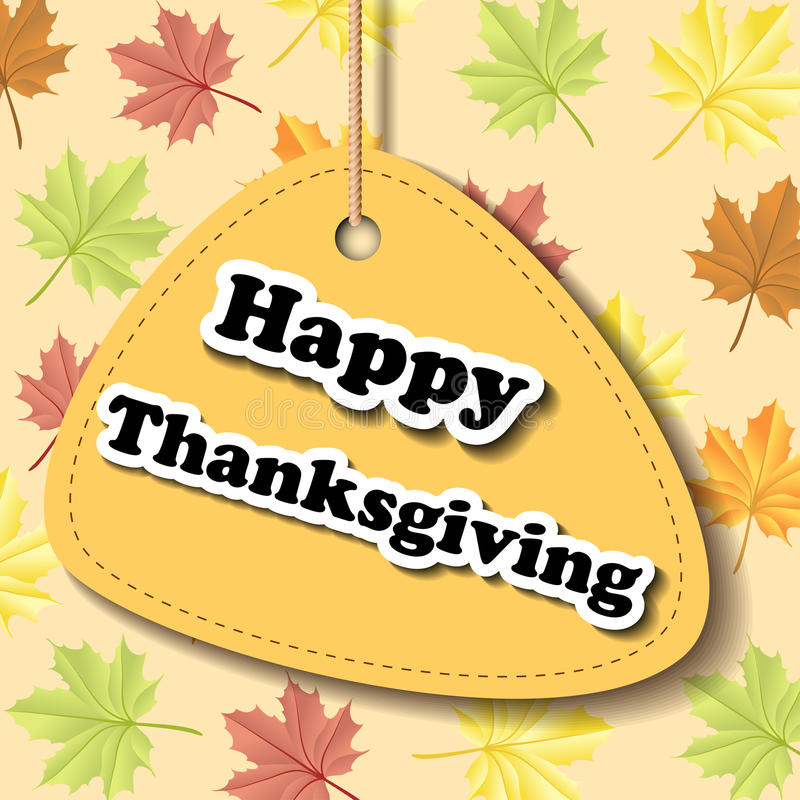 Download Thanksgiving Label With Leaf Pattern Stock Vector - Image: 34749812