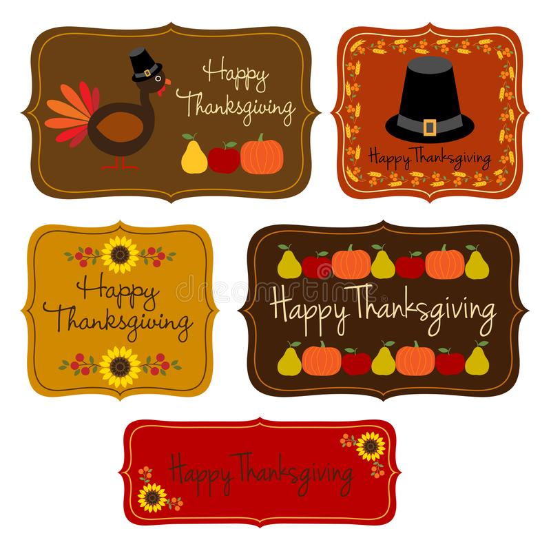 Thanksgiving labels clipart. Thanksgiving icon labels clipart vector vector illustration
