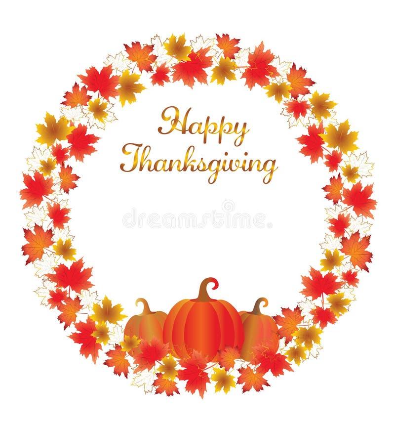 Thanksgiving leaves border isolated on White. vector illustration