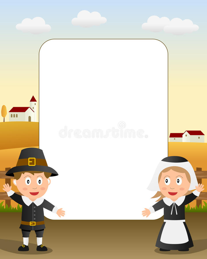 Download Thanksgiving Photo Frame [4] Stock Vector - Illustration: 16707572