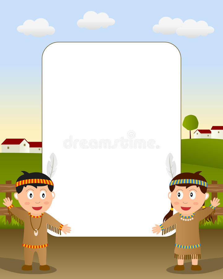 Download Thanksgiving Photo Frame [5] Stock Vector - Illustration of characters, child: 16707586