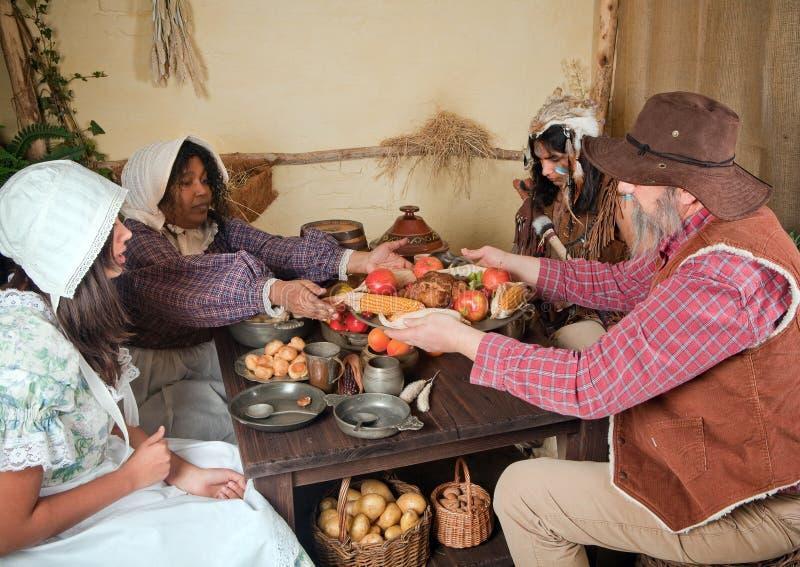 Thanksgiving pilgrim food stock image