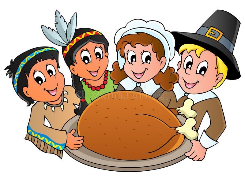 Thanksgiving Pilgrim Theme Royalty Free Stock Image