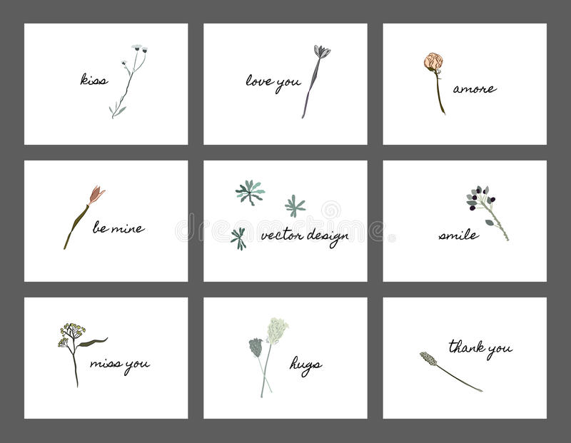 Thanksgiving postcard with flowers stock photography