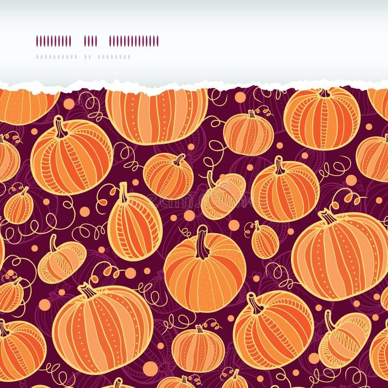 Thanksgiving pumpkins horizontal torn seamless
