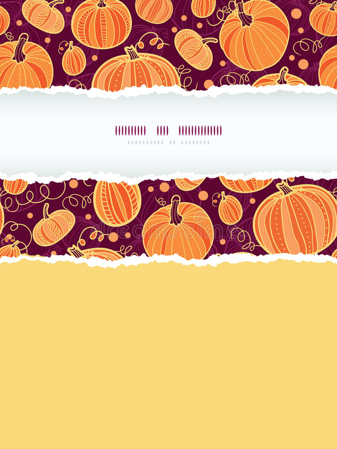 Download Thanksgiving Pumpkins Vertical Torn Frame Seamless Stock Vector - Illustration of background, harvest: 34120314