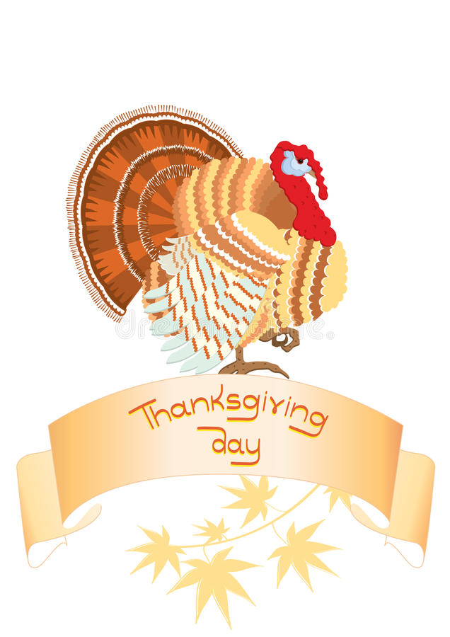 Download Thanksgiving scroll stock vector. Image of banner, turkey - 16456168