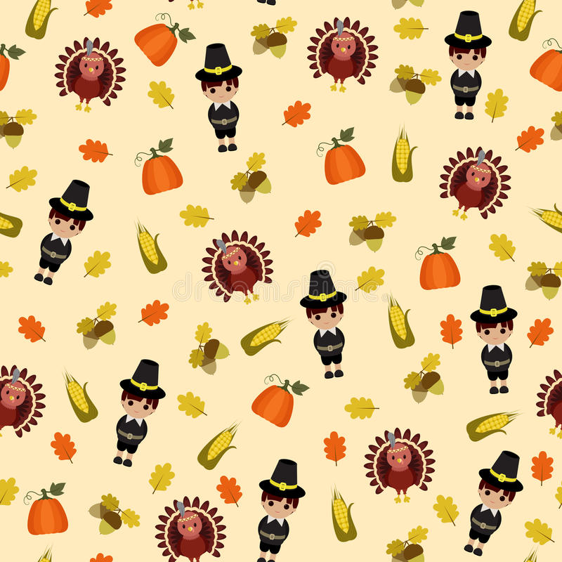 Thanksgiving seamless wallpaper stock illustration