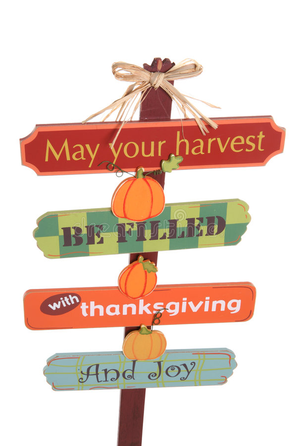 Download Thanksgiving Sign stock image. Image of object, seasonal - 3083023