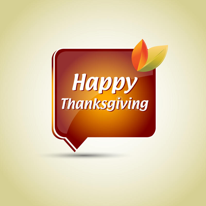 Thanksgiving speech bubble. For your (web)page