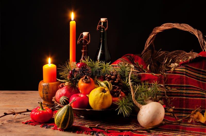 Thanksgiving Still Life stock image