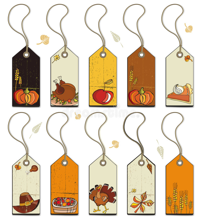 Download Thanksgiving  tags stock vector. Illustration of iday - 6695834