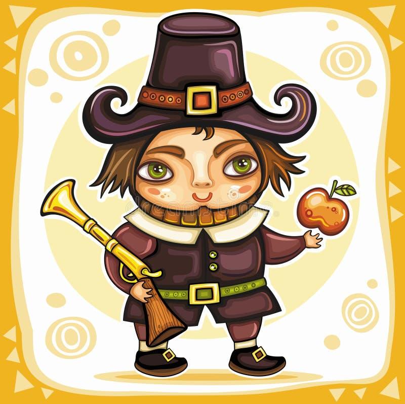 Thanksgiving theme 7 royalty free illustration