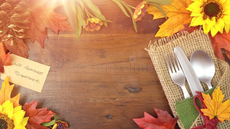 Thanksgiving theme framed background. stock photography
