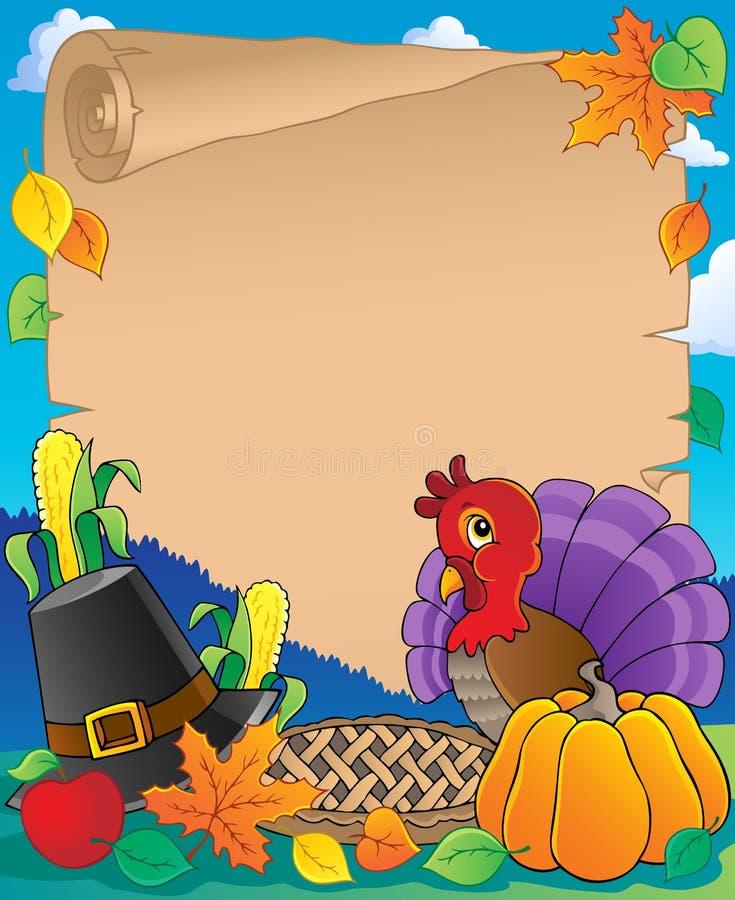 Thanksgiving Theme Parchment 1 Royalty Free Stock Photo