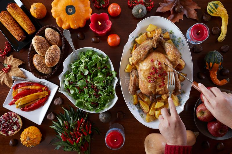 Thanksgiving traditional food royalty free stock photos