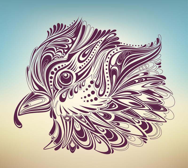 Thanksgiving turkey abstract royalty free illustration