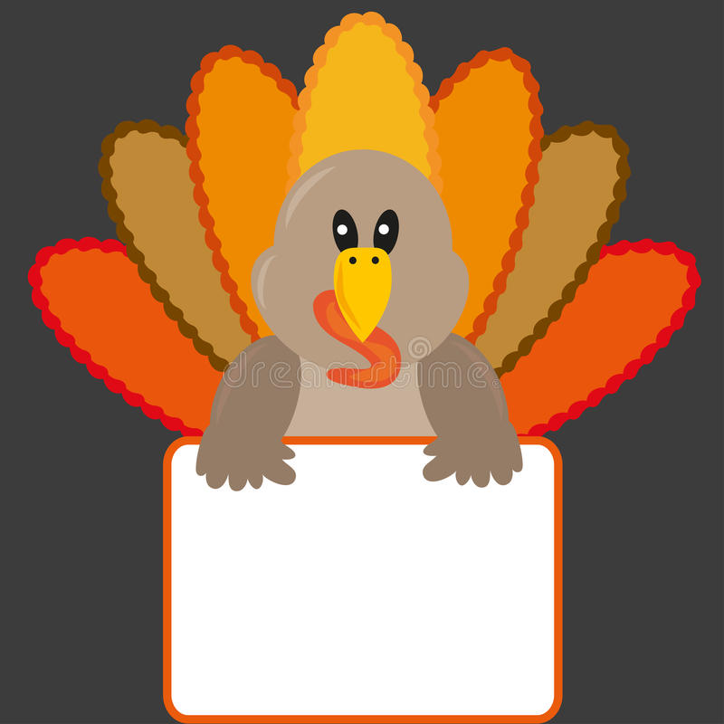 Thanksgiving turkey with banner royalty free stock photos