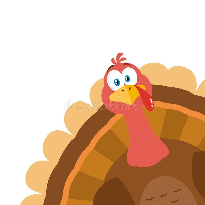 Free Thanksgiving Turkey Bird Cartoon Mascot Character Peeking From A Corner. Stock Photography - 182683332