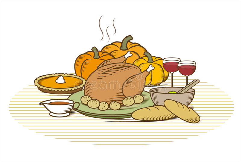 Thanksgiving Turkey-(Color) vector illustration