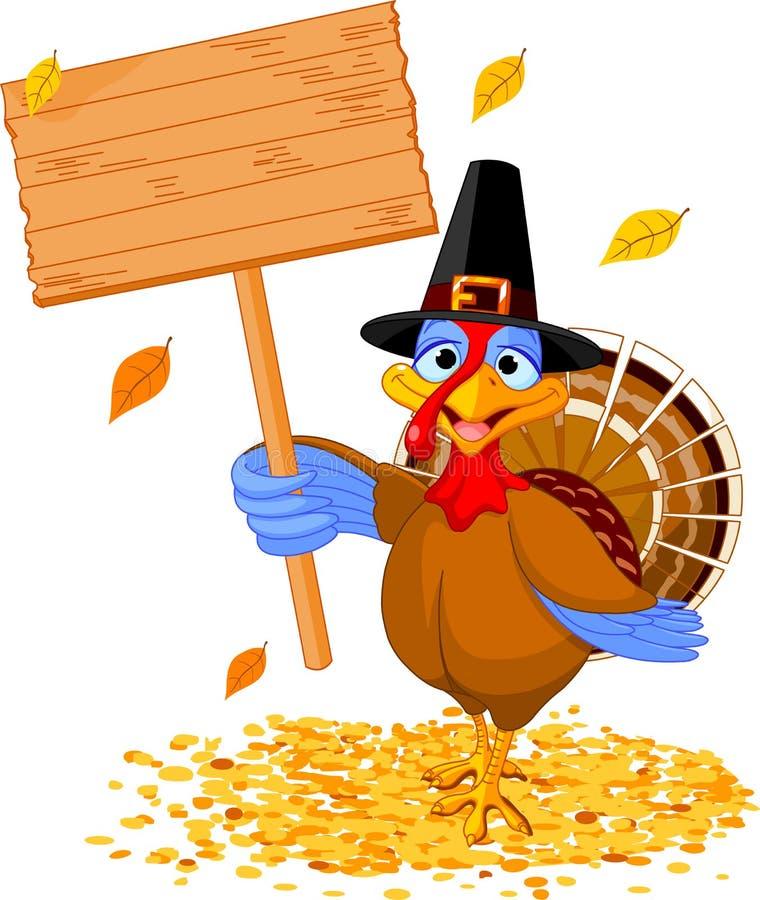 thanksgiving turkey holding sign stock vector pilgrim hat clipart pilgrim hat clip art free