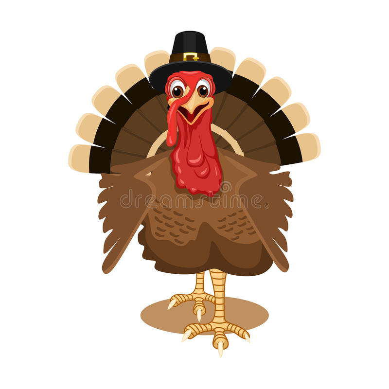 Thanksgiving turkey isolated royalty free illustration
