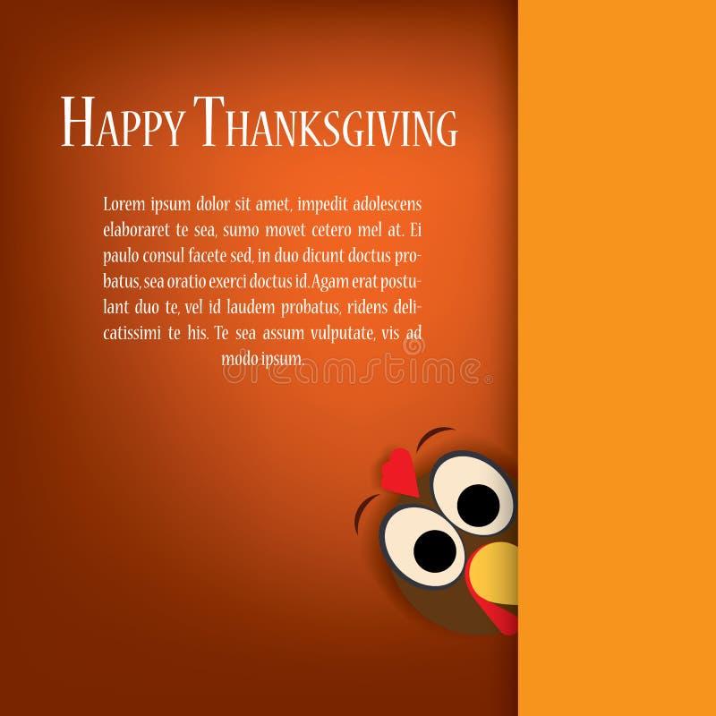 Thanksgiving turkey vector. Holiday card template stock illustration