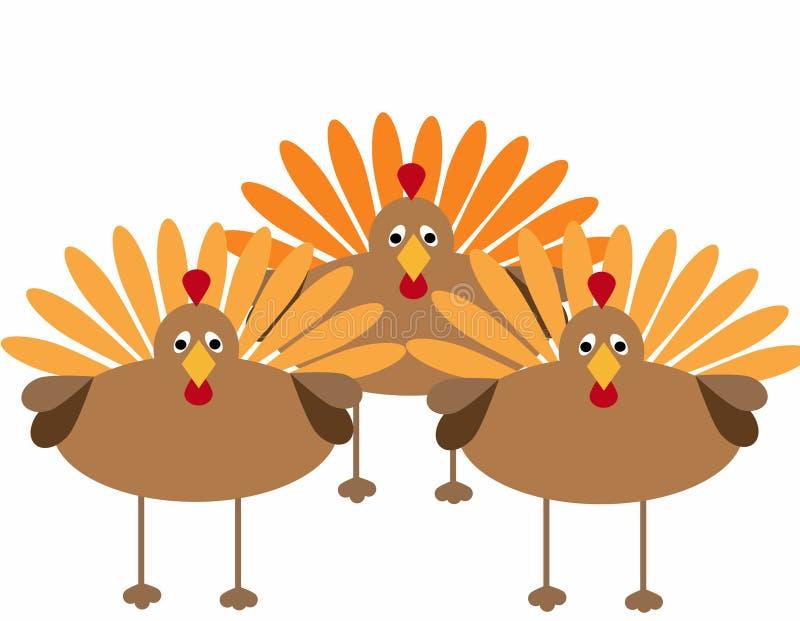 Thanksgiving Turkeys stock illustration