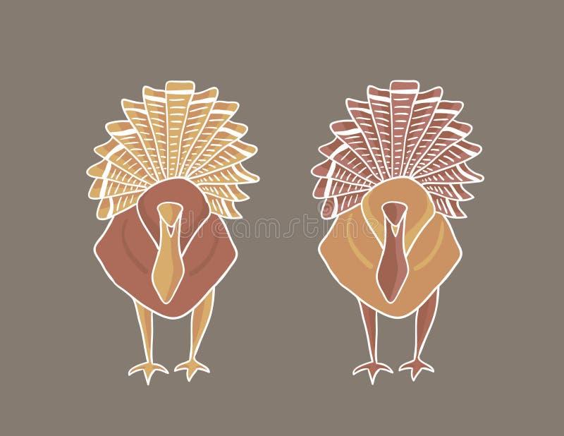 Thanksgiving Turkeys royalty free stock photo