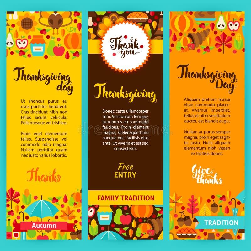 Thanksgiving Vertical Flyers vector illustration
