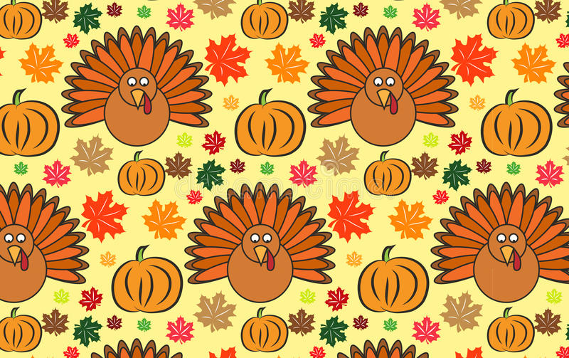 Thanksgiving wallpaper royalty free illustration
