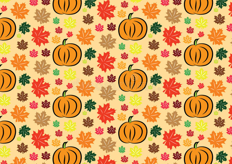 Thanksgiving wallpaper stock illustration