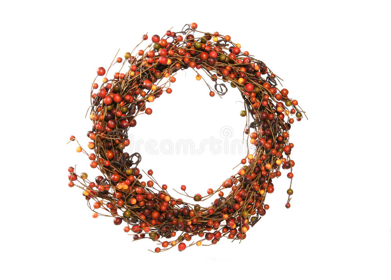 Download Thanksgiving Wreath stock image. Image of shape, garland - 1419093