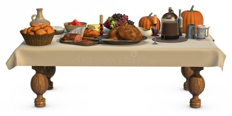 thanksgving的正餐 皇族释放例证