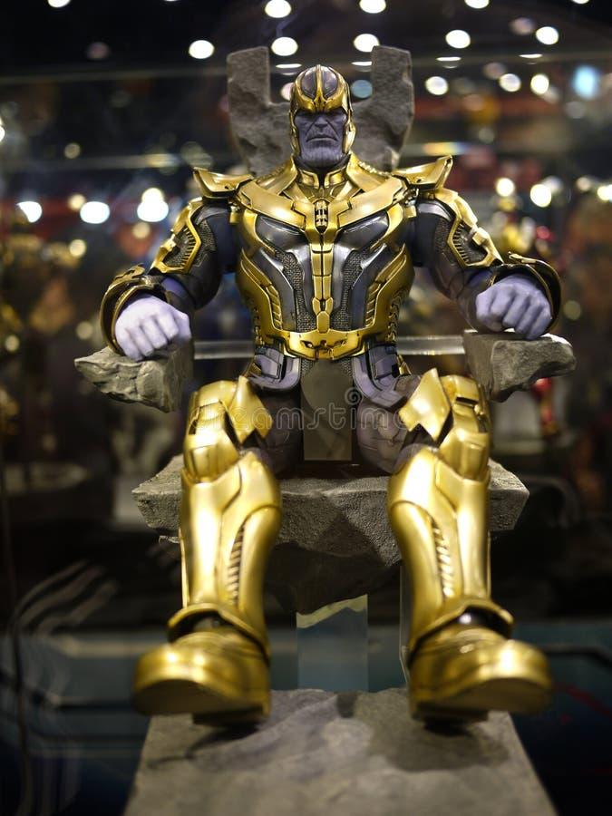 Thanos in de Wrekers: Leeftijd van Ultron stock foto's